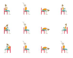 Chair Surya Namaskar Yoga Sequence