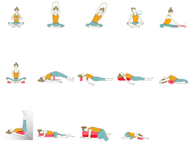 Restorative Yoga Sequence with Minimal Props
